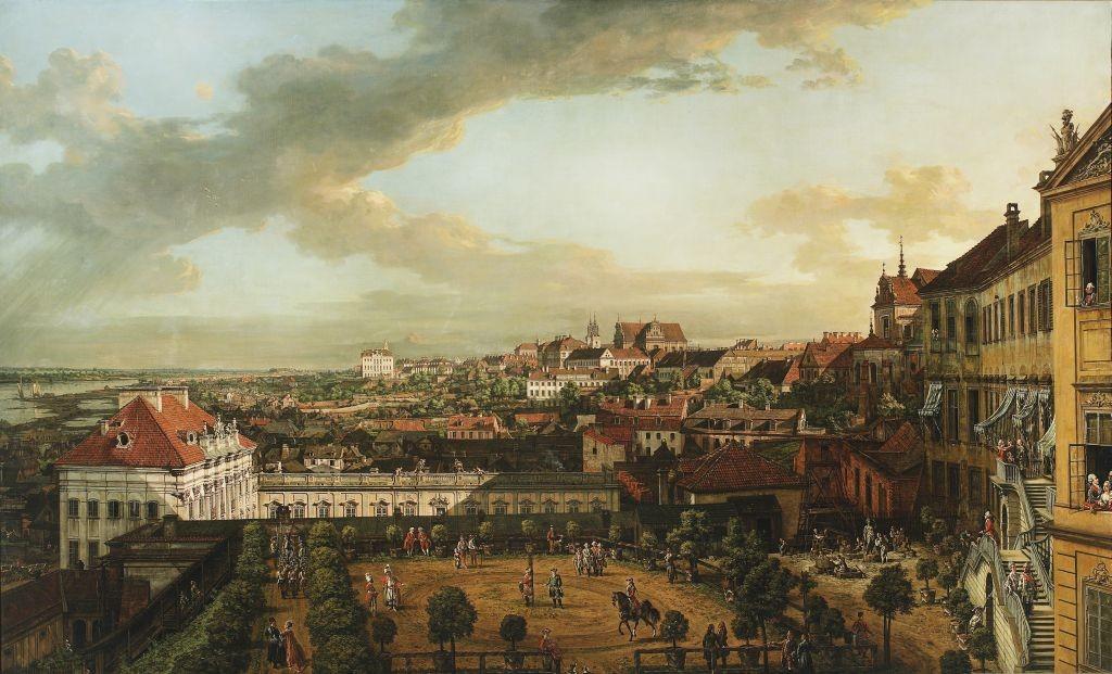 """Canaletto """"Widok Warszawy z tarasu Zamku Kr—ólewskiego"""", 1773"""