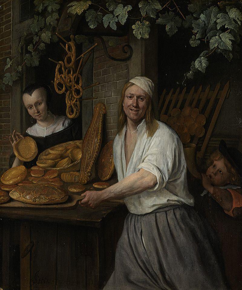 Jan Steen, Baker with pretzels, 1658
