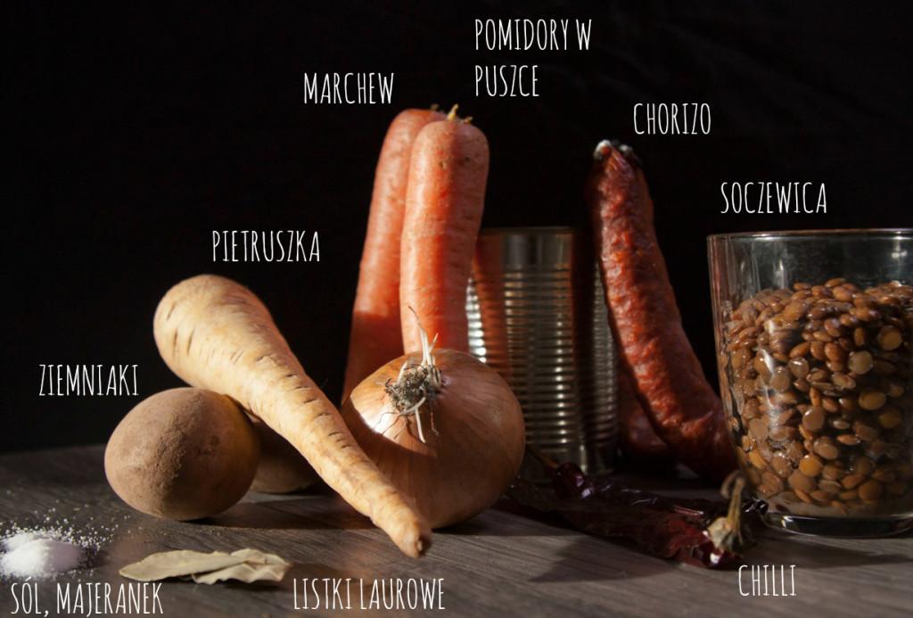 zupa z soczewicą i chorizo przepis