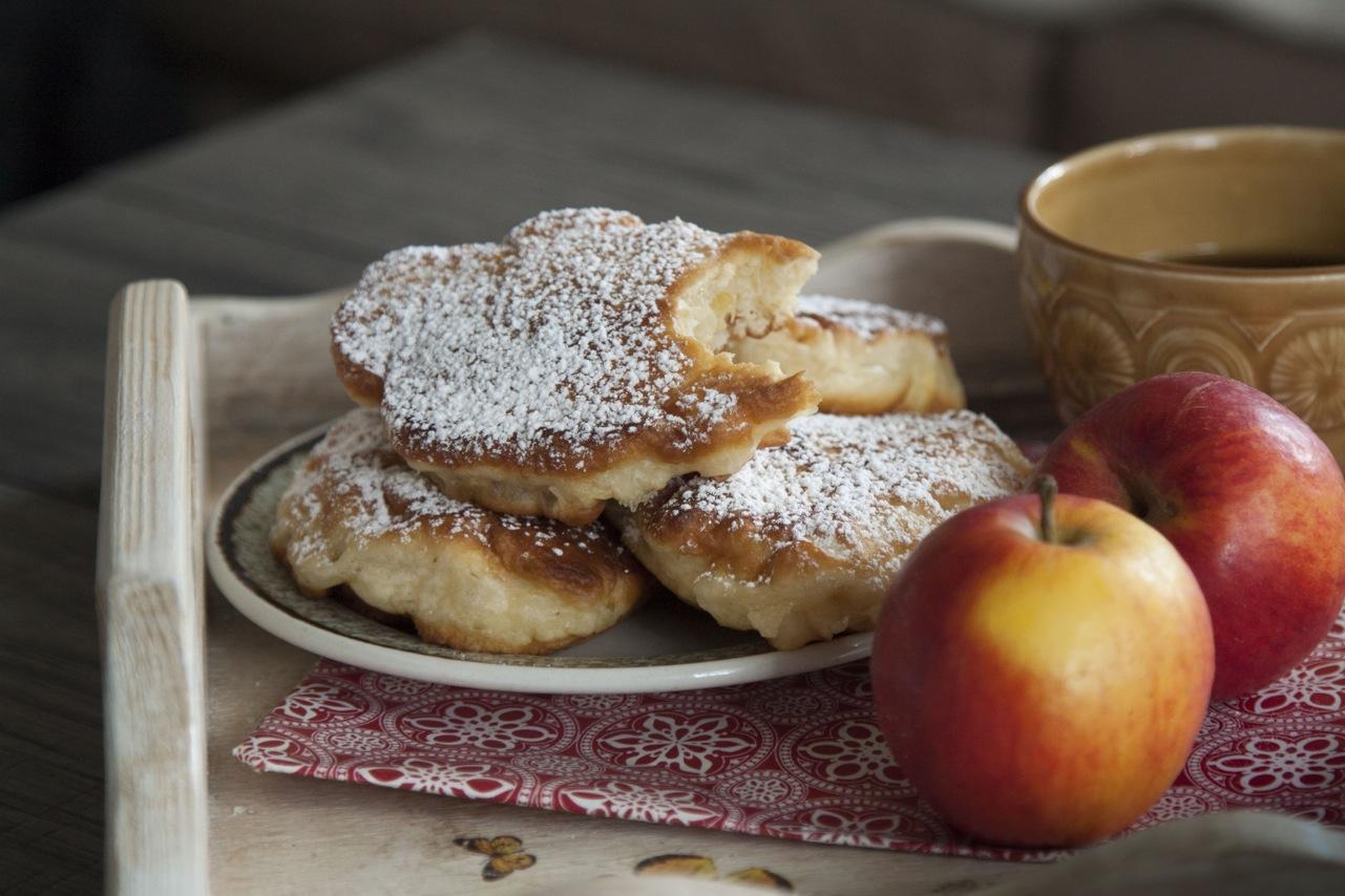 racuchy z jabłkami bez drożdży