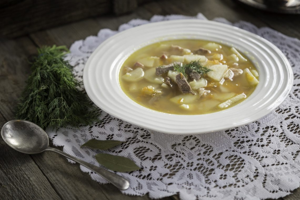 zupa kartoflana na baraninie